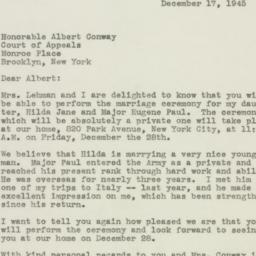 Letter : 1945 December 17