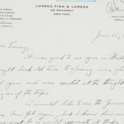 Letter : 1942 June 15