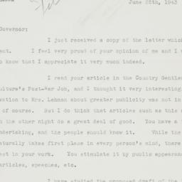 Letter : 1943 June 25
