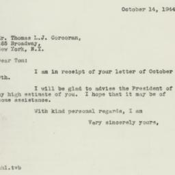 Letter : 1944 October 14