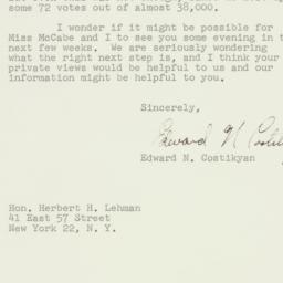Letter : 1959 November 4