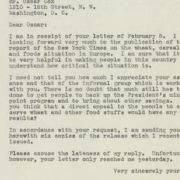 Letter : 1946 February 18