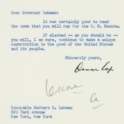 Letter : 1949 September 2