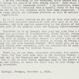Letter : 1930 December 5