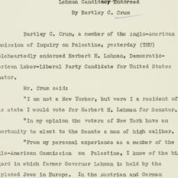 Letter : 1946 November 1