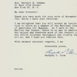 Letter : 1947 November 14