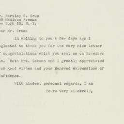 Letter : 1949 November 25