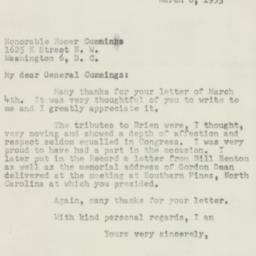 Letter: 1953 March 6