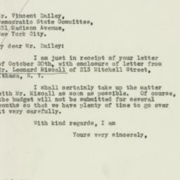 Letter: 1932 October 25