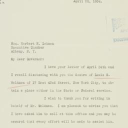 Letter: 1934 April 25