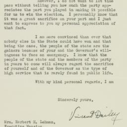Letter: 1938 November 23
