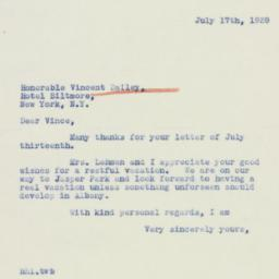 Letter: 1939 July 17