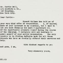 Letter : 1932 October 16