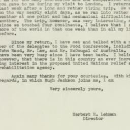 Letter : 1943 May 17