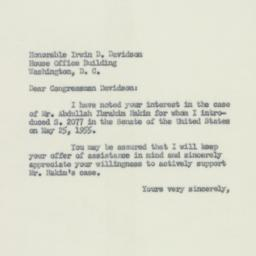 Letter : 1955 June 16