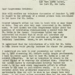 Letter : 1955 December 19