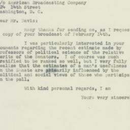 Letter : 1952 February 29