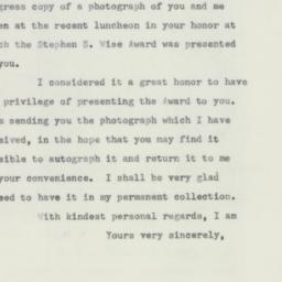 Letter : 1956 January 12