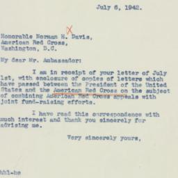 Letter : 1942 July 6