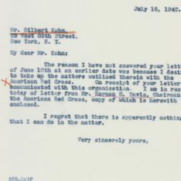 Letter: 1942 July 16