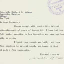 Letter : 1937 September 9