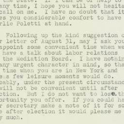 Letter : 1938 October 5