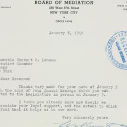 Letter : 1940 January 8