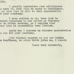 Letter : 1953 February 12