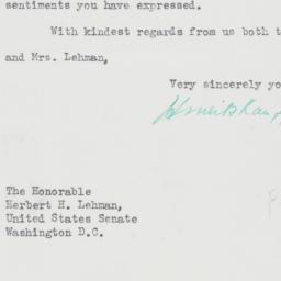 Letter : 1956 May 3