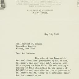 Letter : 1931 May 18