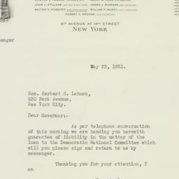 Letter: 1931 May 23