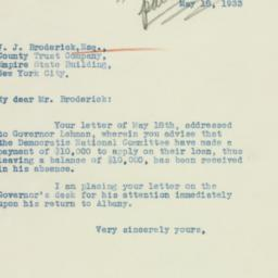 Letter: 1933 May 18