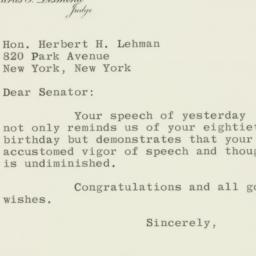 Letter: 1958 March 26