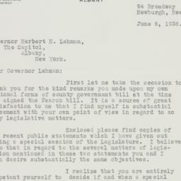 Letter: 1936 June 6