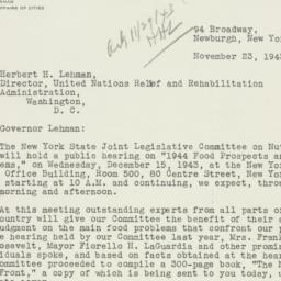 Letter: 1943 November 23