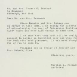 Letter: 1952 August 15