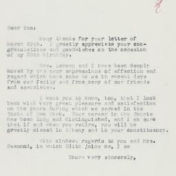 Letter: 1958 April 5