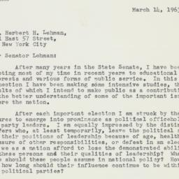 Letter: 1963 March 14
