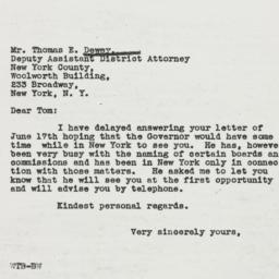 Letter : 1937 July 5