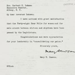 Letter: 1935 March 11
