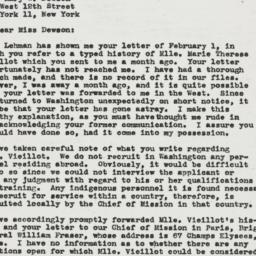 Letter: 1946 February 9
