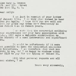 Letter: 1952 January 21