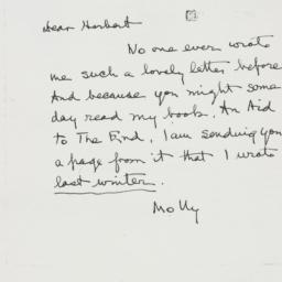 Letter: 1952 January 23
