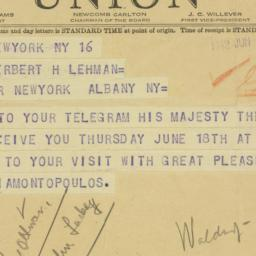 Telegram : 1942 June 17