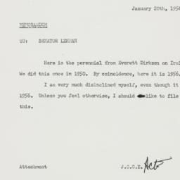 Memorandum: 1956 January 20