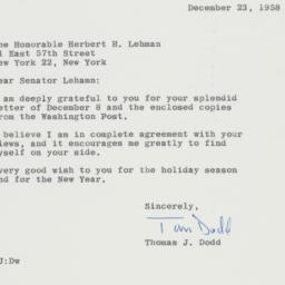 Letter: 1958 December 23