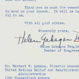 Letter: 1945 March 16