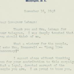 Letter: 1948 November 16