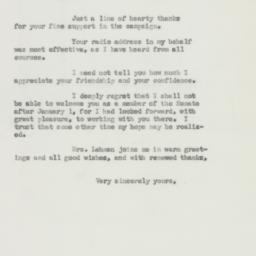 Letter : 1950 November 20