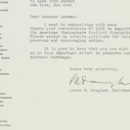 Letter : 1951 November 26